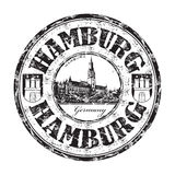 Hamburg grunge rubber stamp Stock Photos