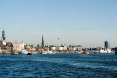 Hamburg habor Stock Images