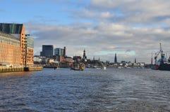Hamburg-Hafen und Stadtufergegend, Deutschland Stockbild