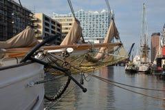 Hamburg-Hafen und Stadtufergegend, Deutschland Stockfoto