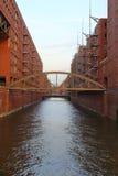 Hamburg Hafencity stock afbeelding