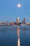 Hamburg Hafencity am Abend Stockfoto