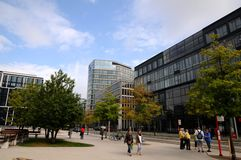 Hamburg, Hafencity deptak - Zdjęcie Royalty Free