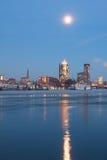 Hamburg Hafencity i aftonen Arkivfoto