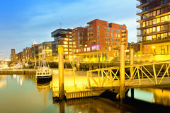 Hamburg, Hafencity, modern architecture at the waterfro Royalty Free Stock Photography