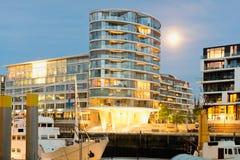 Hamburg, Hafencity, modern architecture at the waterfro Stock Photos