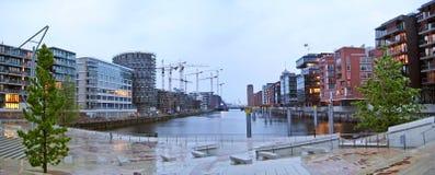 Hamburg Hafencity, panorama Royalty Free Stock Images
