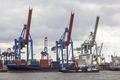 Hamburg hamn Fotografering för Bildbyråer