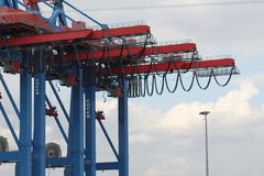 Hamburg hamn, behållareterminal Royaltyfri Fotografi