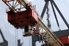 Hamburg hamn, behållareterminal Royaltyfria Foton