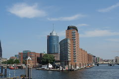 Hamburg harbor Royalty Free Stock Images