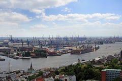 Hamburg harbor Stock Photos