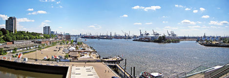 Hamburg harbor Royalty Free Stock Photography