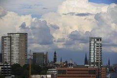 Hamburg harbor city Stock Photo