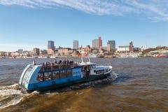 Hamburg Harbor Ferry Stock Images