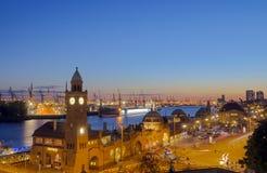 The Hamburg harbor Stock Photography