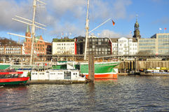 Hamburg harbour and city waterfront, Germany Royalty Free Stock Photo