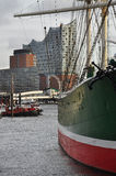 Hamburg harbour and city waterfront, Germany Stock Image