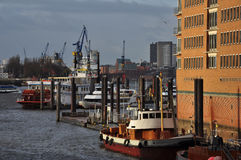 Hamburg harbour and city waterfront, Germany Stock Photo