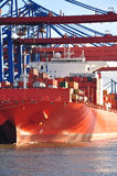 Hamburg harbour dock and cargo container terminal, Germany Royalty Free Stock Photography