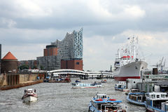Hamburg harbour Royalty Free Stock Image