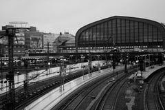 Hamburg Hauptbahnhof Central railroad station in Germany.  Royalty Free Stock Image