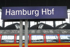 Hamburg Hauptbahnhof sign Royalty Free Stock Photo