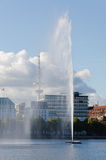 Hamburg, Heinrich-Hertz-Toren Stock Foto's