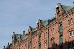Hamburg - historic Speicherstadt. Famous old Speicherstadt in Hamburg, build with red bricks, warehouse district Royalty Free Stock Photography