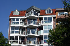Hamburg  house in Germany. Hamburg residencial  house in Germany Stock Image