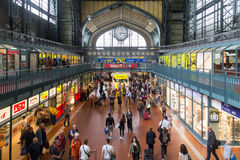 Hamburg huvudsaklig drevstation Royaltyfri Fotografi