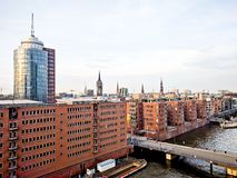 Hamburg i vår Royaltyfri Foto