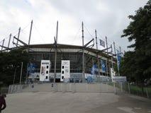 Hamburg Imtech Arena. Hamburg city, Imtech Arena panorama of the city stock photo