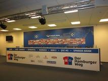 Hamburg imtech arena HSV. Hamburg city, imtech arena architecture of the city stock photography