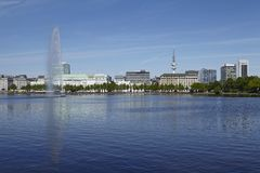Hamburg - Inner Alster Royalty Free Stock Photos