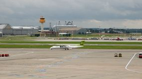 Hamburg International-Luchthaven in Duitsland Stock Afbeelding