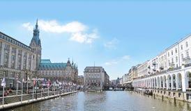 Hamburg, Jungfernstieg Stockbild