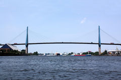 Hamburg, Köhlbrandbrücke Stock Photography