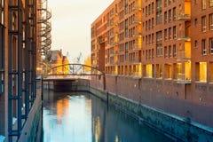 Hamburg, Kehrwiederfleet, offices in historical warehou Royalty Free Stock Photography
