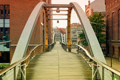 Hamburg, Kehrwiedersteg, leading through the historical Royalty Free Stock Photography