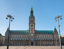 Hamburg landmark town hall Stock Photography
