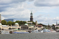 Hamburg, Landung-Stufen Str.-Pauli Stockbild