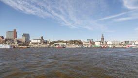 Hamburg Landungsbrucken. HAMBURG, GERMANY - MARCH 20, 2014: View of the historic harbor at the Landungsbrucken in Hamburg, Germany on March 20, 2014 royalty free stock photos