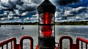 Hamburg lighthouse Stock Photography