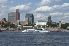 Hamburg - linia horyzontu Fotografia Stock