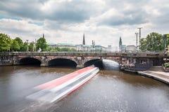 Hamburg Lombardsbruecke Stock Image