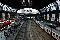 Hamburg Main Railway Station Stock Photography