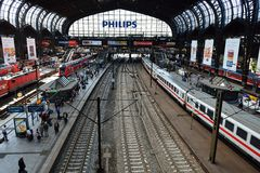 Hamburg Main Railway Station Royalty Free Stock Photos