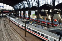 Hamburg Main Railway Station Stock Photos