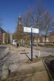 Hamburg - Michel and road sign Royalty Free Stock Photos